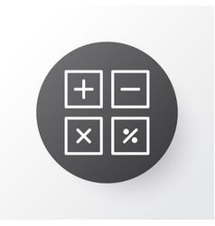 calculate icon symbol premium quality isolated vector image