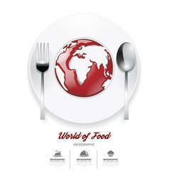 Infographic world of food design template vector