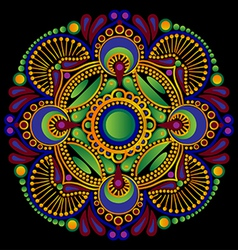 Paisley flower vector image