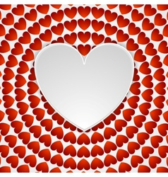 Red romance background with hearts vector