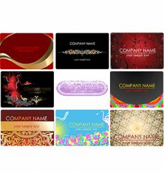 Glamor fashion business cards vector