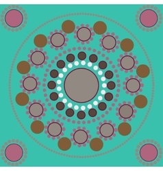 Seamless pattern with colored points and circles vector
