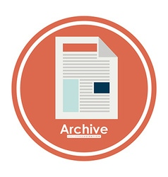 Archive design vector