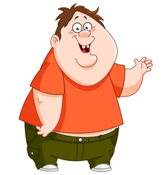 Fat kid vector