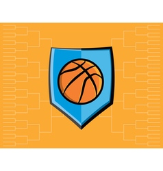 Basketball icon bracket vector