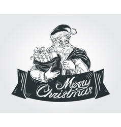 Merry christmas and happy new year logo vector