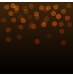 Shining gold bokeh on dark background vector