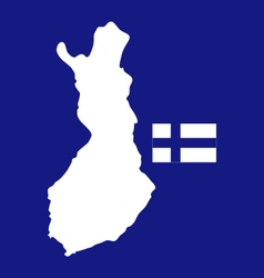 Map finland vector