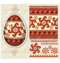 Traditional folk ornament for Easter eggs Pysanka vector image