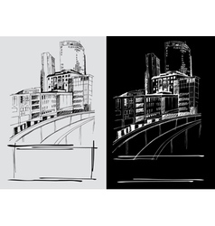 City sketch vector