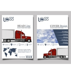 Trucking flyer design template vector
