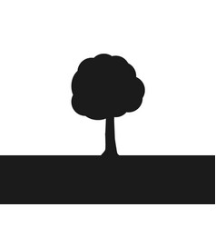 a simple tree vector image