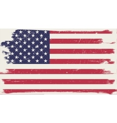 American flag with grunge frame vector
