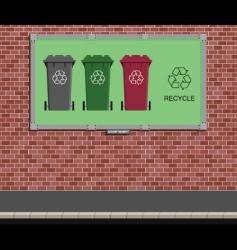 billboard recycle vector image vector image