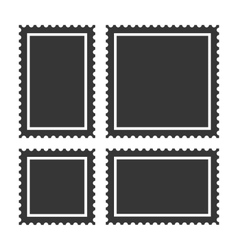 Blank Postage Stamps Set on White Background vector image vector image