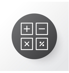 calculate icon symbol premium quality isolated vector image