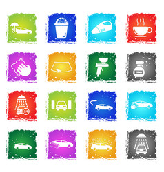 car wash simply icons vector image vector image