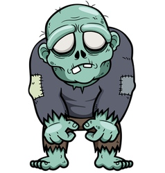 Cartoon zombie vector image vector image