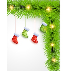 christmas socks hanging vector image