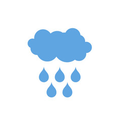 Cloud and rain icon weather pictogram isolated vector
