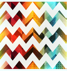 colored zigzag seamless pattern with grunge effect vector image