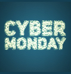 cyber monday sale background with vector image