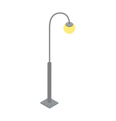 elegant streetlamp isometric 3d icon vector image