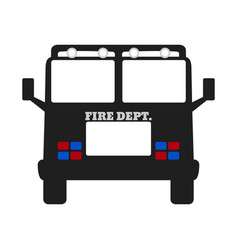 Fire car elements of the fire departament vector