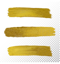 gold paint smear stroke stain vector image