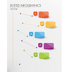 infographic with dotted lines vector image