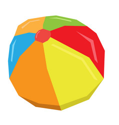 isolated geometric beach ball vector image vector image