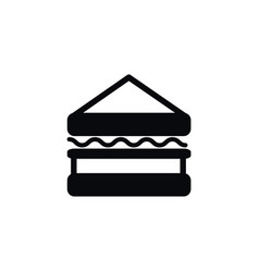 isolated triangle snack icon sandwich vector image