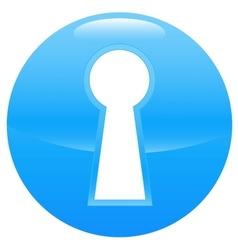 Keyhole blue icon vector image