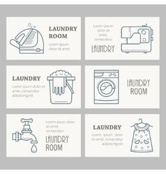 Laundry room design invitations vector