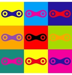 Link sign Pop-art style icons set vector image