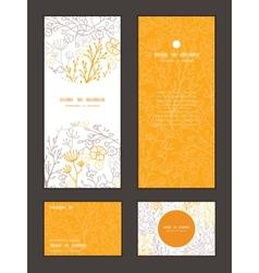 magical floral vertical frame pattern vector image vector image