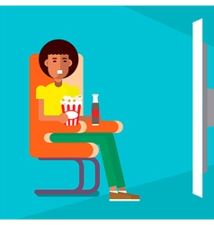 Man in the cinema vector image
