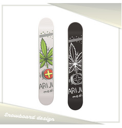 Medical marijuana snowboard seven vector