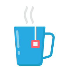 Mug of tea flat icon business and breakfast vector