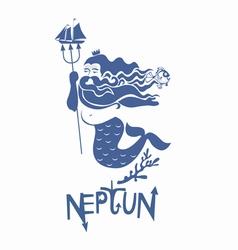 Neptune vector image