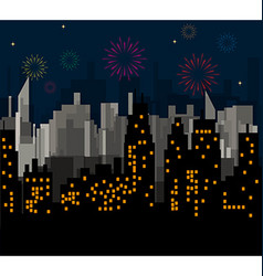 Night City celebrates vector image vector image
