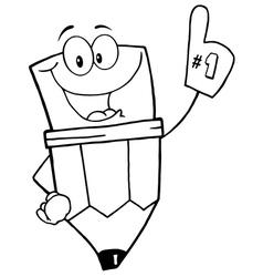 Pencil Guy vector image vector image
