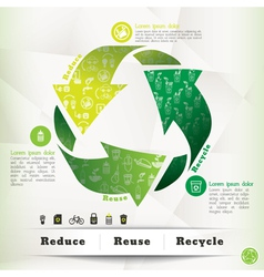 Recycle concept graphic element vector