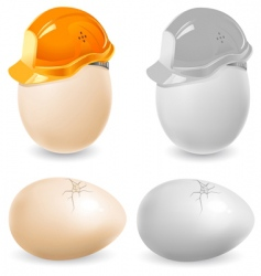 safety eggs vector image