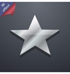 Star icon symbol 3D style Trendy modern design vector image