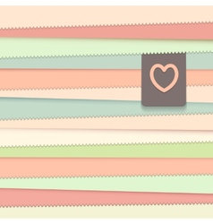 Striped background with label vector image vector image