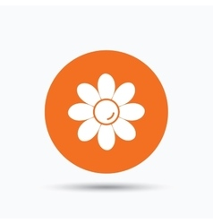 Flower icon florist plant with petals sign vector