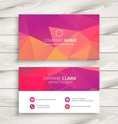 Business card in pink vector