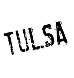 Tulsa stamp rubber grunge vector image