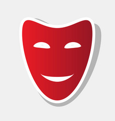 Comedy theatrical masks new year reddish vector